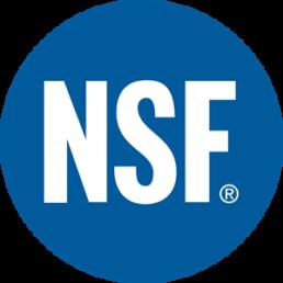 NSF International logo - Touchfree Toilet