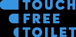 Touchfree Toilet - Logo blauw