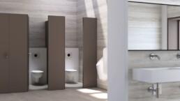 Toiletruimte publieke ruimte - Douchewc's - Touchfree Toilet